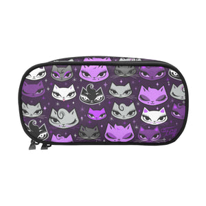 Billy Cats Purple • Double Zip Cosmetic