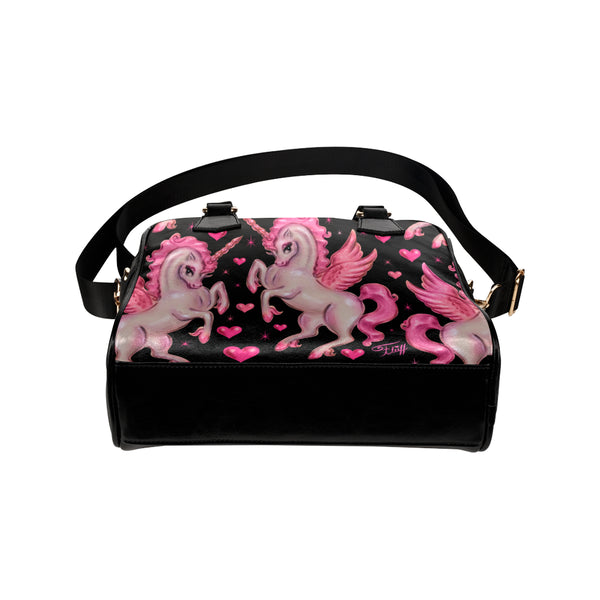 Unicorn Pegasus on Black • Purse