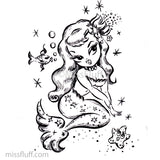 Miss Fluff's Magical Mermaids Coloring Book