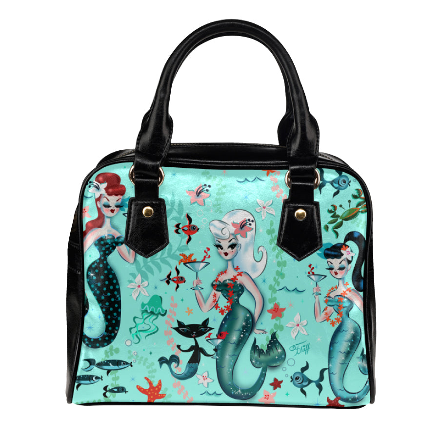 Blonde Martini Mermaid with Merkitty • Purse