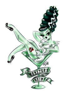 Bride of Frankenstein  • 5 inch Vinyl Sticker