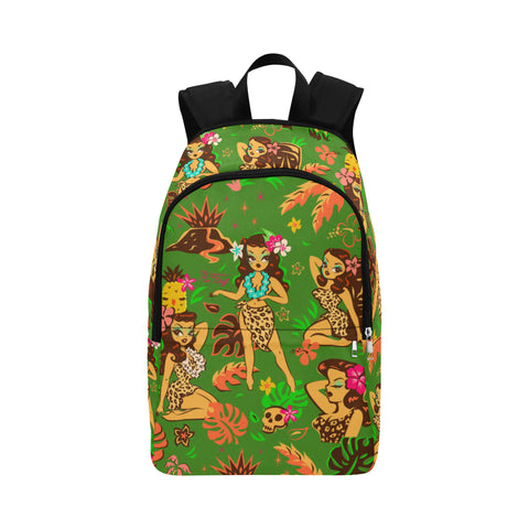 Tiki Temptress on Green • Backpack