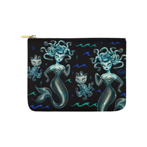 Blue Medusa Mermaid • Carry All Pouch