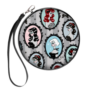 Cameo Dolls • Round Cosmetic Bag