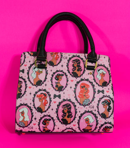 Cameo Dolls on Pink Mocha • SPECIAL EDITION Handbag