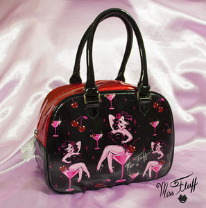 Special CHERRY MARTINI GIRL BOWLER BAG- SIGNED!