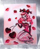 Cherry Kisses Doll- Original Drawing