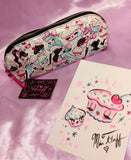 Special CUPCAKE DOLLS Cosmetic Bag- SIGNED! with ORIGINAL DRAWING!