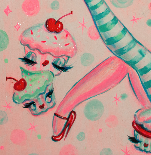 Cupcake Doll- Original Painting 11x14