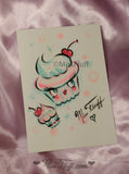 Special CUPCAKE DOLLS Train Case- SIGNED! with ORIGINAL DRAWING!
