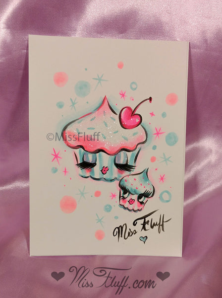 Special CUPCAKE DOLLS PURSE- SIGNED! with ORIGINAL DRAWING!