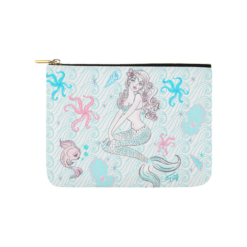 Pink Pearl Beach Mermaid • Carry All Pouch