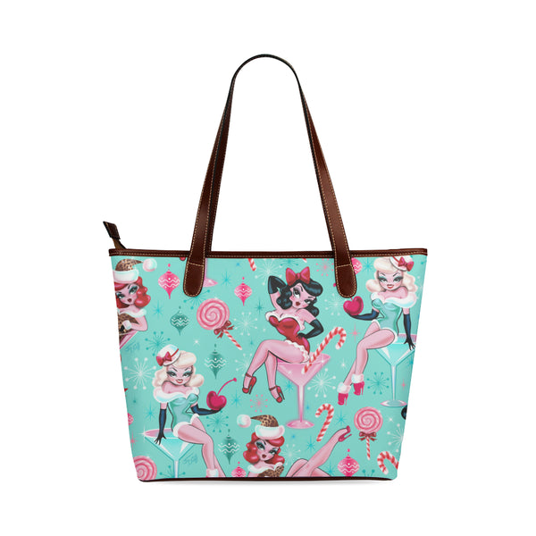 Christmas Candy Martini Pinup Girls • Purse Tote