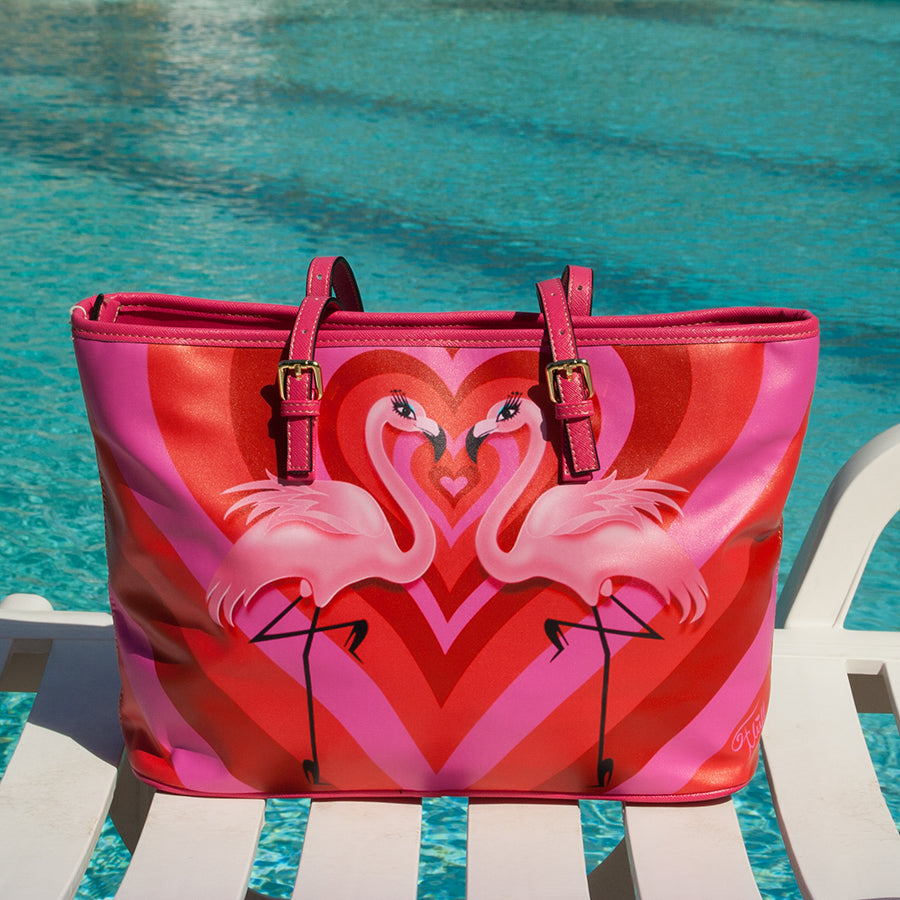 Flamingo Love • Faux Leather Bag • LIMITED EDITION