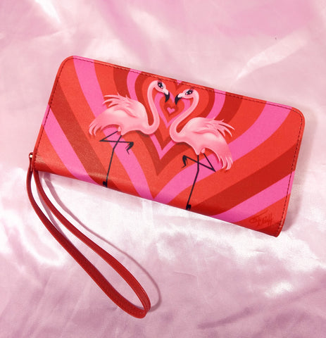 Flamingo Love • Clutch Wallet