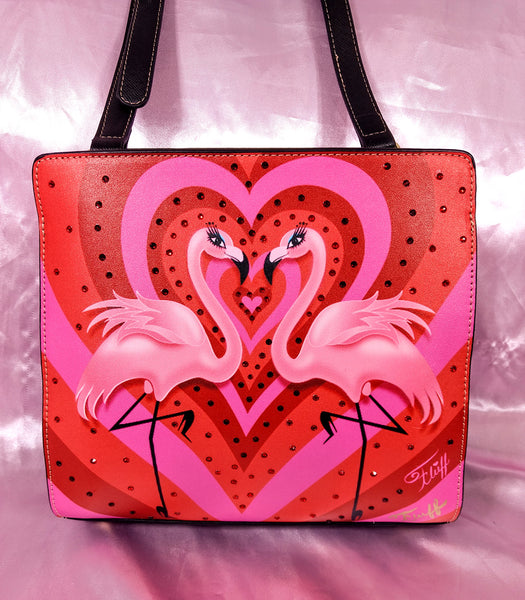 Crystalized Flamingo Love • Mini Bon Bon Bag