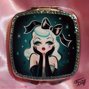 Special Edition • Glamour Doll Mirror Compact - with Swarovski Crystals!