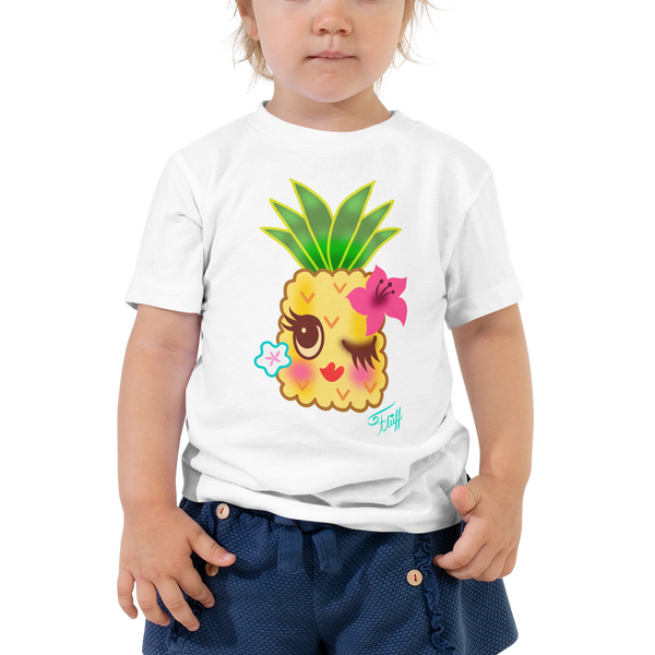 Happy Kawaii Pineapple • Toddler Short Sleeve Tee
