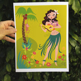 Hula Honey Art Print
