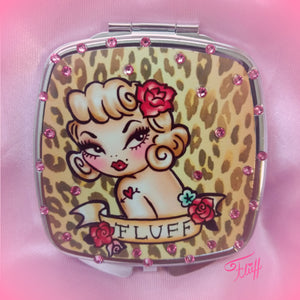 Special Edition • Lady Leopard Mirror Compact - with Swarovski Crystals!