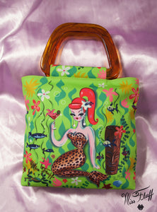 Special LEOPARD MARTINI MERMAID TOTE- SIGNED!