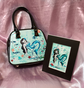 Pre-production Sample Martini Mermaid BAG- SIGNED! & Original Drawing!