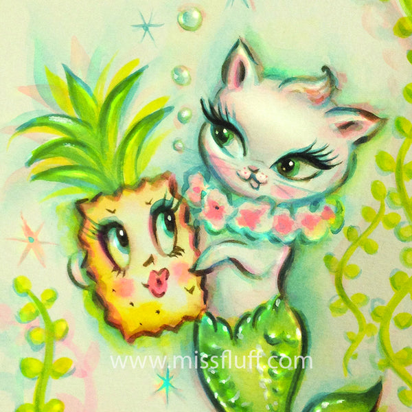 Merkitten with Enchanted Pineapple