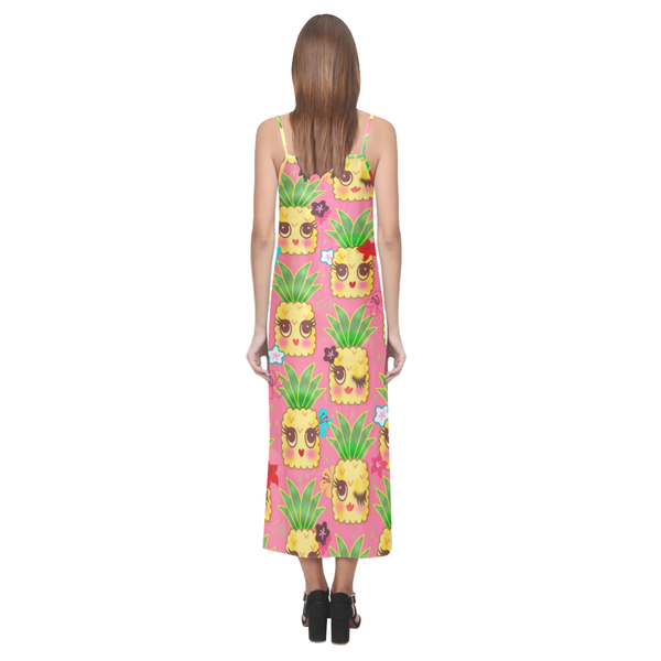 Happy Kawaii Cute Pineapples on Pink • LIMITED EDITION Dress
