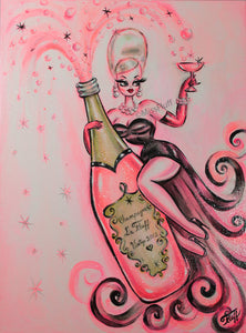 Pink Champagne Dream • ORIGINAL PAINTING