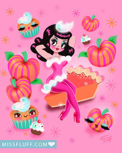 Pumpkin Pie Pinup Girl • Art Print