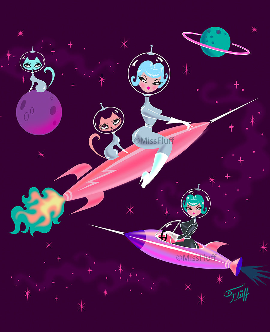 Rocket Girl • Art Print