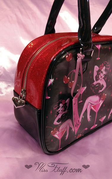 Very Special CHERRY MARTINI GIRL BOWLER BAG- SIGNED! and More!