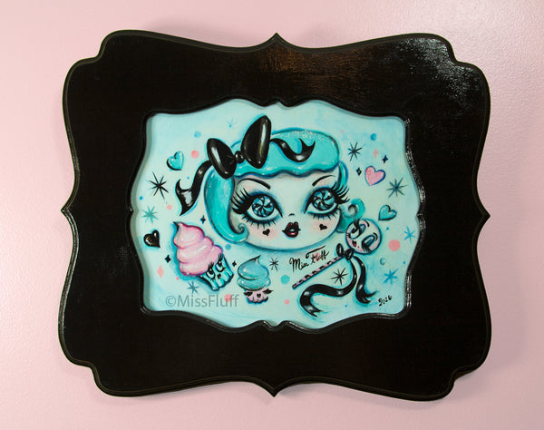 Dolly in a Sugar Coma- Original Painting - Framed