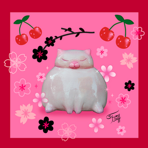 Sumo Kitty on Pink • Art Print