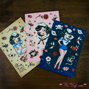 Suzy Sailor • Postcard Prints Set