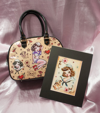 Pre-production One of a kind Sample Suzy Sailor Bag- SIGNED! and Original Drawing!