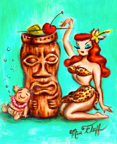 Tiki Mug Girl • Art Print