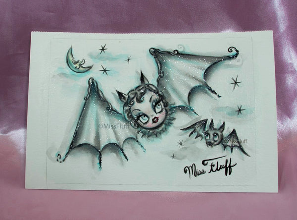 Vampire Bat Dolly- Original Drawing