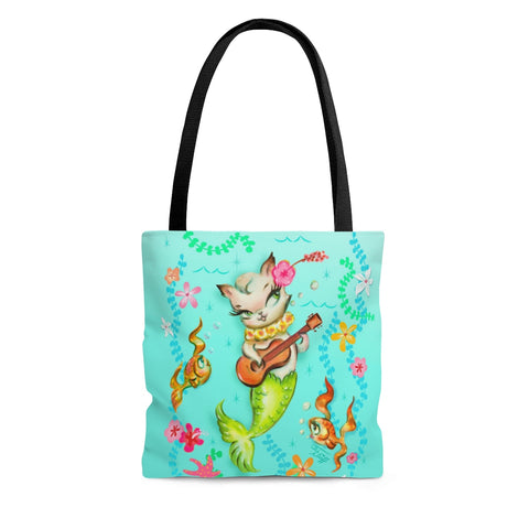Mermaid Cat with Ukulele • Tote Bag