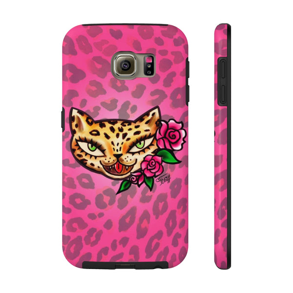 Lady Leopard Kitty • Phone Case