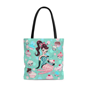 Cupcake Doll with Chocolate Hair • Tote Bag