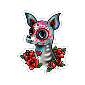 Sugar Skull Chihuahua • Kiss-Cut Sticker