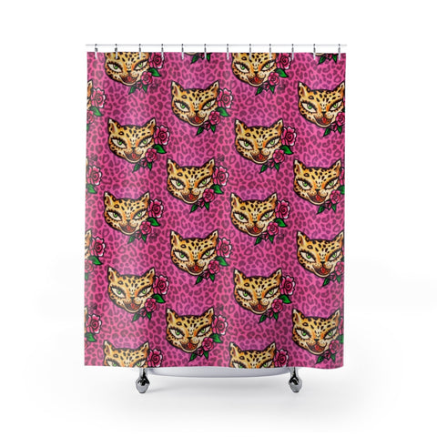 Leopard Kitty • Shower Curtain