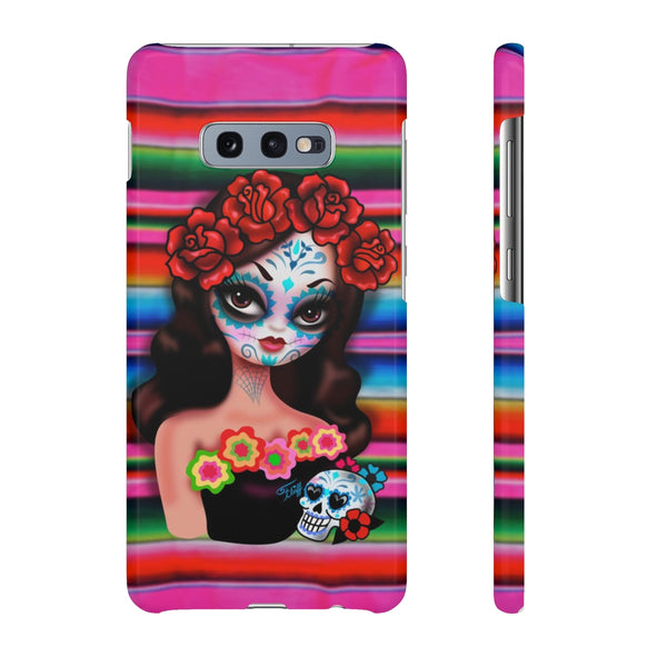 Day of the Dead Girl on Sarape • Samsung Galaxy Phone Case