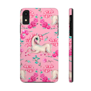 Unicorns and Roses on Pink • Phone Case