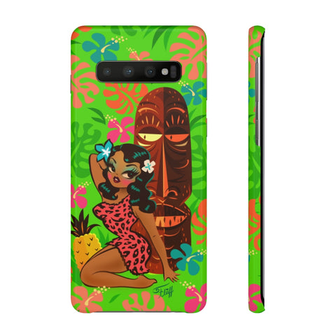 Tiki Temptress in Pink Leopard Print • Samsung Galaxy Phone Case