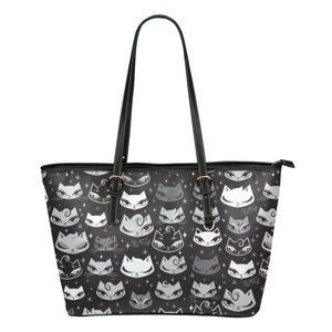 Billy Cats • Faux Leather Tote Purse