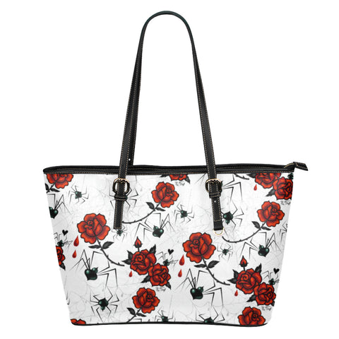 Black Widows and Roses • Faux Leather Tote Purse