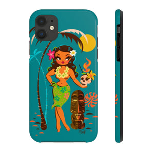 Tiki Temptress • With Skull Mug • Phone Case