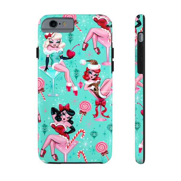 Christmas Candy Martini Pinup Girls • Phone Case